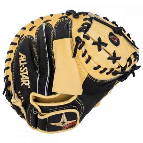 Allstar Pro CM3000 Series Baseball Catchers Mitts BLACK/TAN 32""